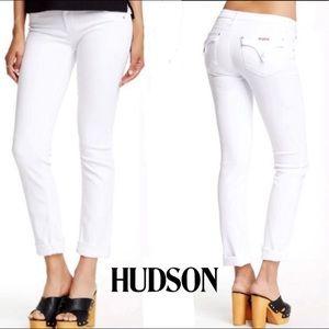 Hudson Women's Jeans White Bacara Crop Cuffed Sz25